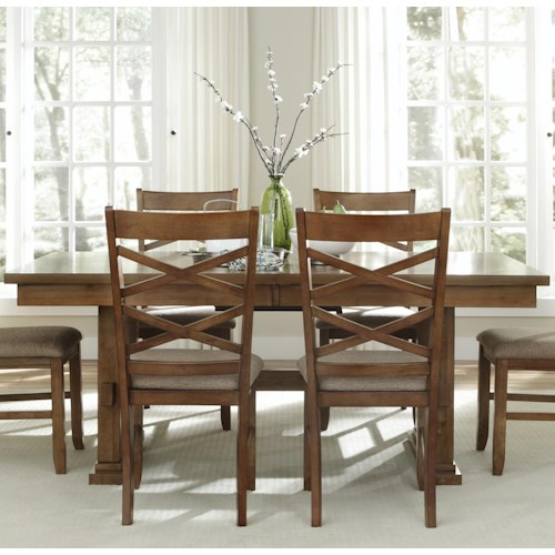 Liberty Furniture Applewood Rectangular Trestle Dining Table