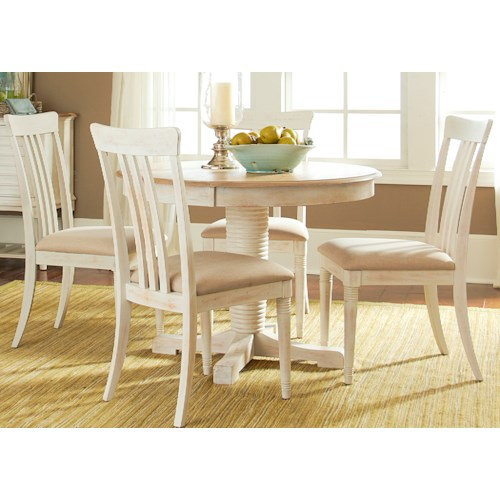 Liberty Furniture Point West 5 Piece Oval Table Set