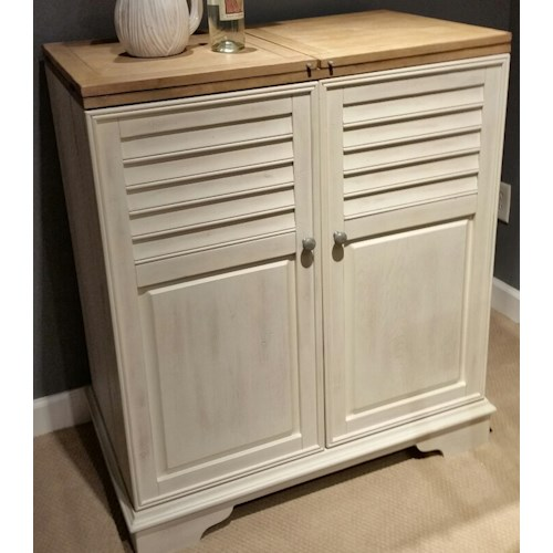 Liberty Furniture Bluff Cove Wine Cabinet with Louvererd Doors