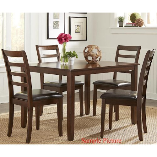 Liberty Furniture Bradshaw Casual Dining 5 Piece Rectangular Leg Table Set