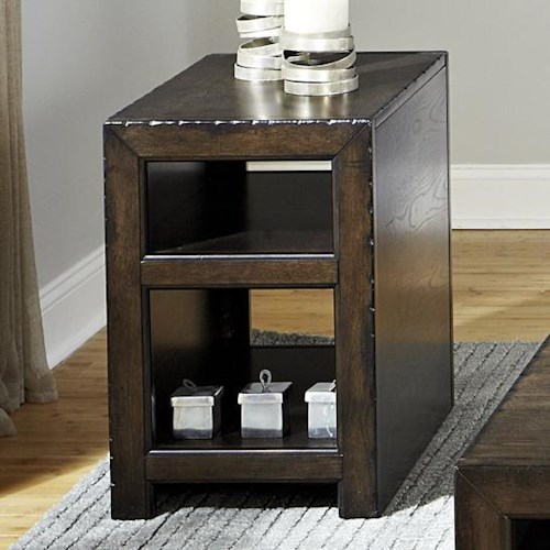 Liberty Furniture Brayden Rustic Casual Chairside Table
