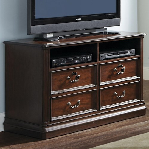 Liberty Furniture Brayton Manor Jr Executive Traditional Media Lateral File with Locking Drawers