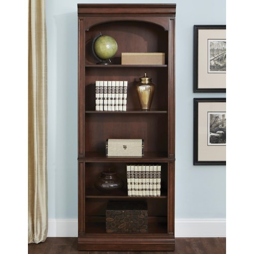Liberty Furniture Brayton Manor Jr Executive Traditional Open Bookcase with 5 Shelves