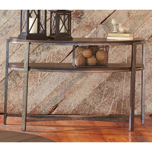 Liberty Furniture Breckinridge Demilune Sofa Table with Shelf