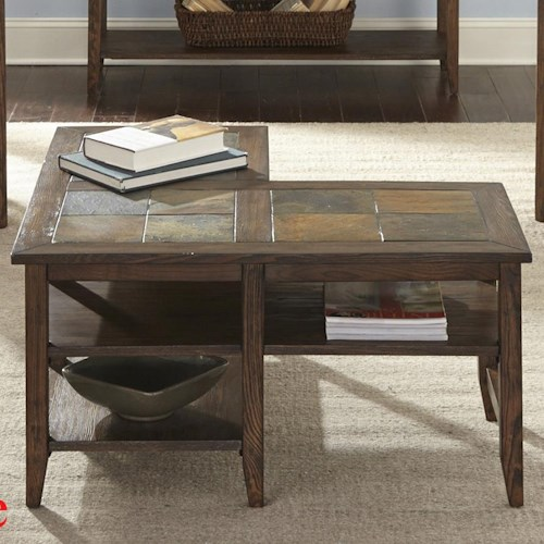 Liberty Furniture Brookstone Transitional L-Shaped Cocktail Table