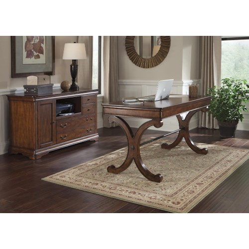 Liberty Furniture Brookview Traditional Writing Desk & Credenza