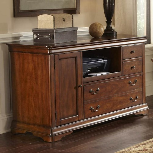 Liberty Furniture Brookview Credenza with File Drawer and Pull Out Printer Shelf