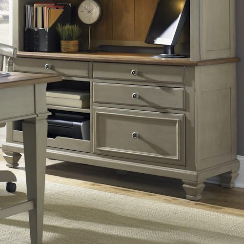Liberty Furniture Bungalow Jr. Executive Credenza w/ Printer Tray