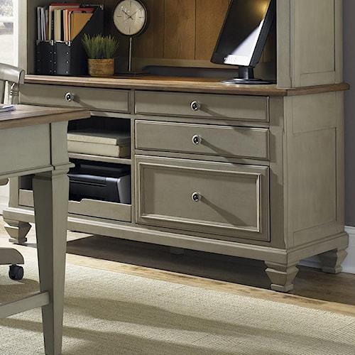 Liberty Furniture Bungalow Jr. Executive Credenza w/ Printer Tray