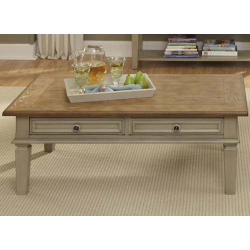 Liberty Furniture Bungalow Coffee Table w/ 2 Drawers