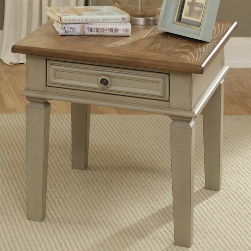 Liberty Furniture Bungalow End Table w/ Drawer