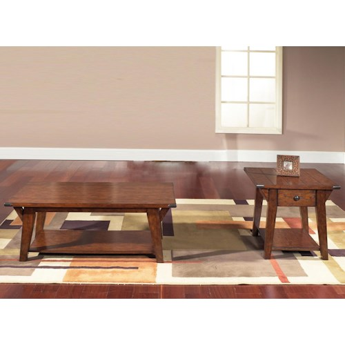 Liberty Furniture Cabin Fever 3 Piece Occasional Table Set