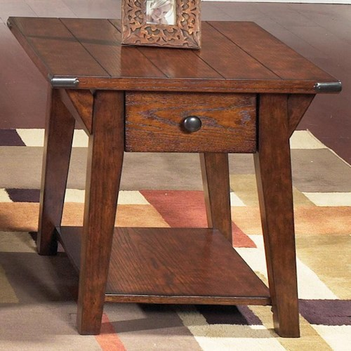 Liberty Furniture Cabin Fever End Table with 1 Drawer