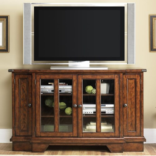 Vendor 5349 Cabin Fever TV Console with DVD Pull Out Storage