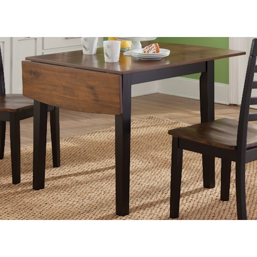 Vendor 5349 Cafe Dining Drop Leaf Table with 2 9