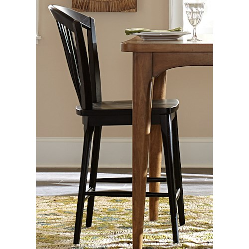 Vendor 5349 Candler Windsor Counter Chair with Light Distressing Finish
