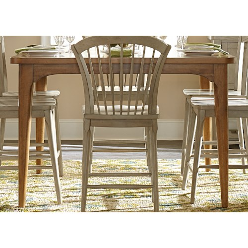 Liberty Furniture Candler Counter Height Gathering Table with Tapered Legs