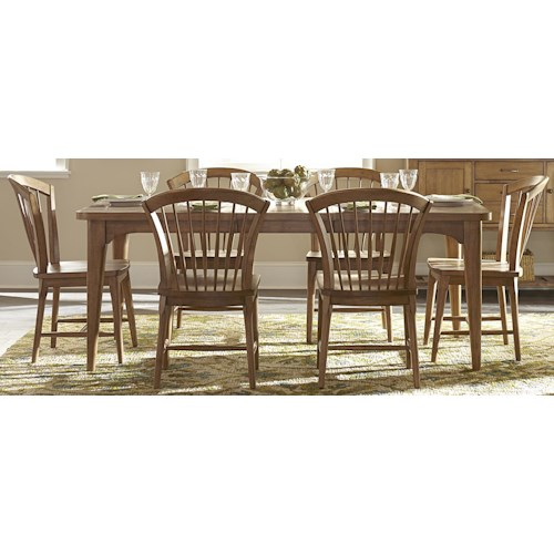 Liberty Furniture Candler 7-Piece Table and Chair Set