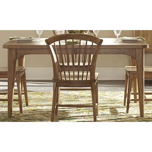 Liberty Furniture Candler Rectangular Dining Table with Tapered Legs