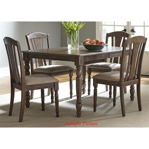 Vendor 5349 Candlewood Casual 5 Piece Rectangular Table Set