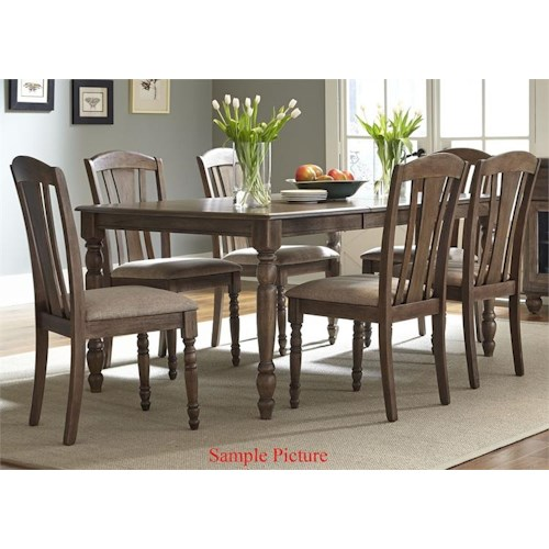 Liberty Furniture Candlewood Casual 7 Piece Rectangular Table Set