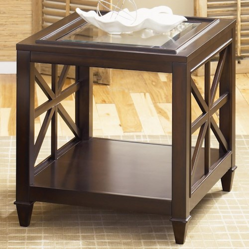 Liberty Furniture Caroline End Table with Glass Top