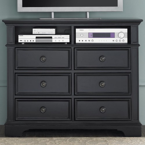 Liberty Furniture Carrington II Media Chest with 6 Drawers