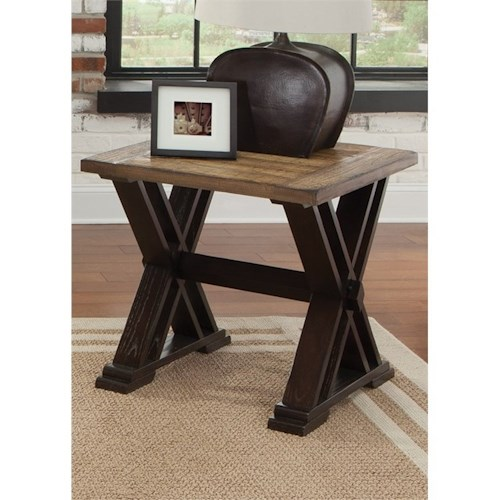 Liberty Furniture Catalina 105 End Table with Trestle Base