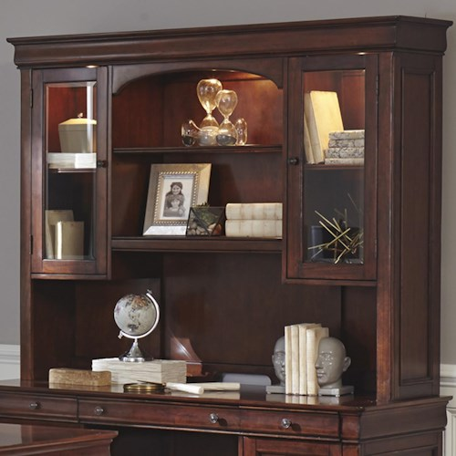 Liberty Furniture Chateau Valley Traditional Jr Executive Credenza Hutch