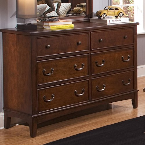 Liberty Furniture Chelsea Square Youth 6 Drawer Double Dresser