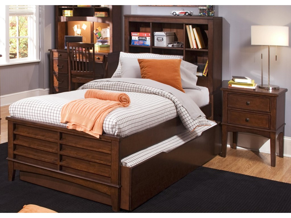 Shown with Optional Coordinating Hutch, Bookcase Bed, and Nightstand