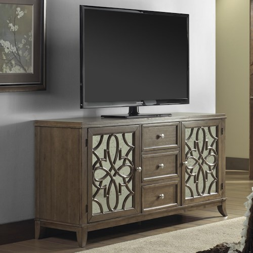 Vendor 5349 Claiborne Entertainment Television Console with Three Drawers and Two Doors