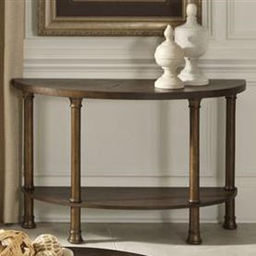 Liberty Furniture Clockworks Contempoary Crest Shaped Sofa Table
