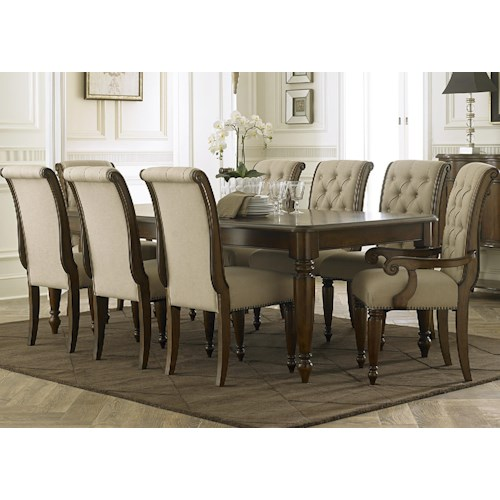 Vendor 5349 Cotswold  9 Piece Rectangular Dining Table Set