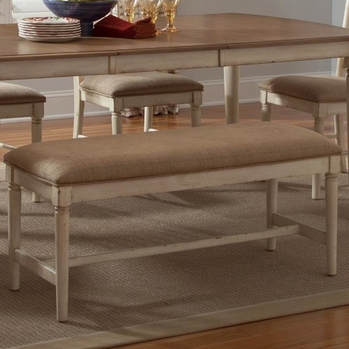 Liberty Furniture Cottage Cove Dining Bench with Upholstered Seat