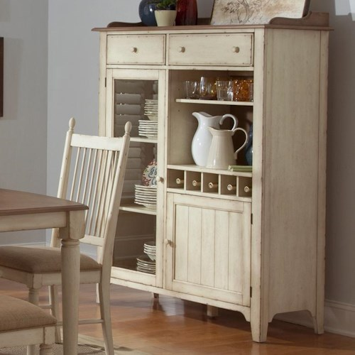 Liberty Furniture Cottage Cove Dining Display China Cabinet