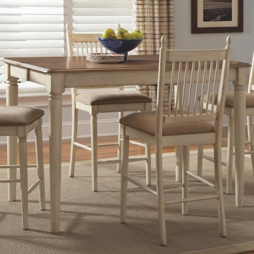 Liberty Furniture Cottage Cove Gathering Height Dining Table with 18