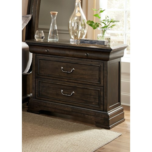 Liberty Furniture Country Estate 2 Drawer Bed Side Chest