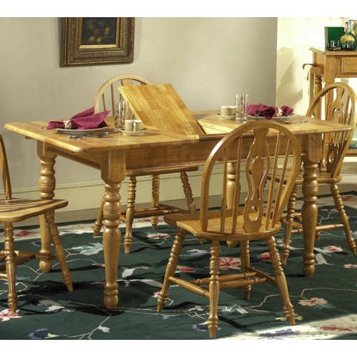 Liberty Furniture Country Haven Butterfly Leaf Leg Table