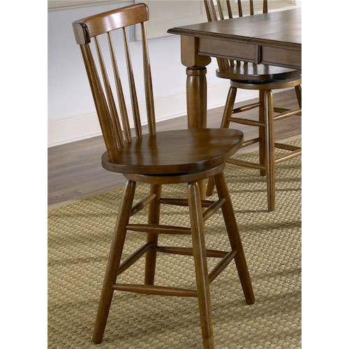 Vendor 5349 Creations II Copenhagen Barstool with Spindle Back