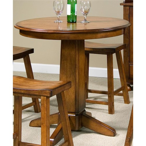 Liberty Furniture Creations II Pub Table with Single Pedestal