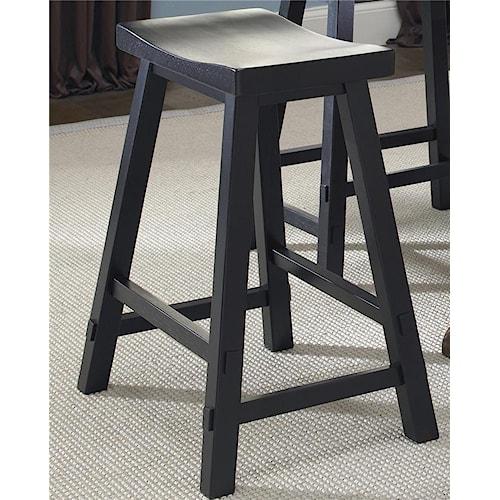 Liberty Furniture Creations II 24 Inch Sawhorse Barstool
