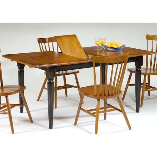 Vendor 5349 Creations II Dining Table with One 12 Inch Leaf