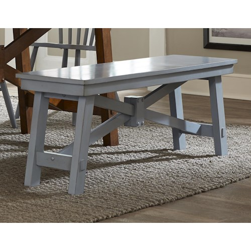 Liberty Furniture Creations II Wood Trestle Bench