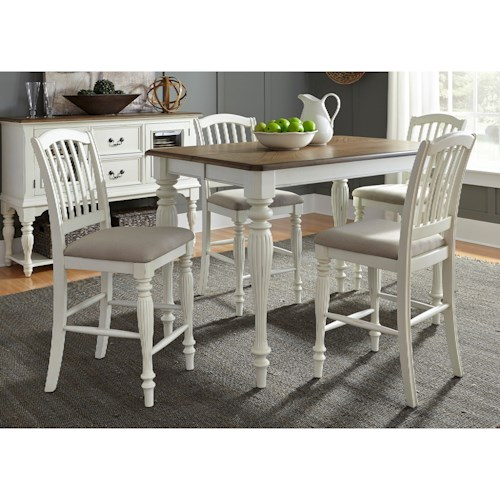 Liberty Furniture Cumberland Creek Dining 5 Piece Gathering Table Set