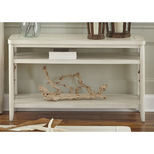 Liberty Furniture Dockside II Coastal Sofa Table with Rope Accents