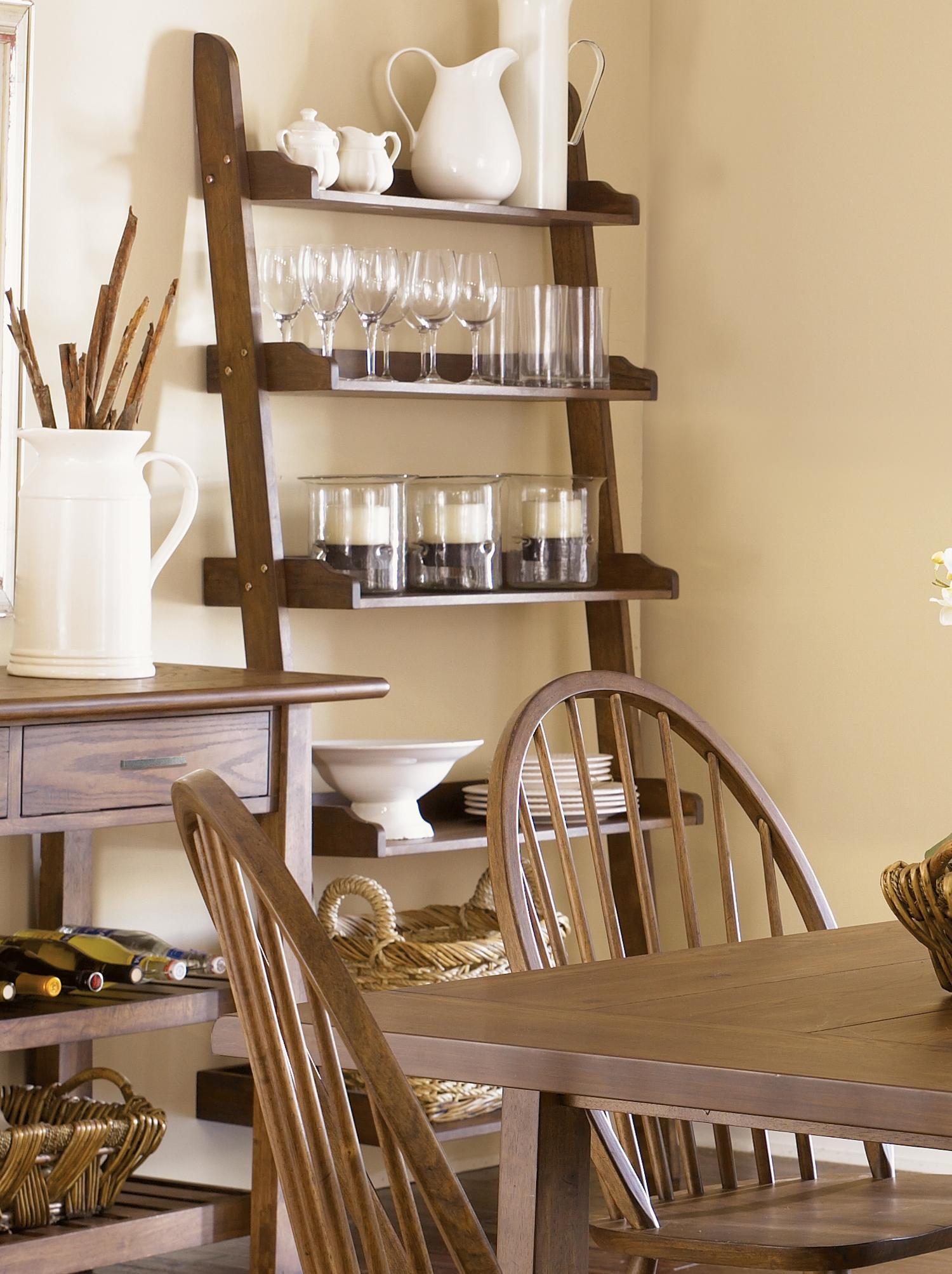 Liberty Furniture Farmhouse Open Leaning Bookcase