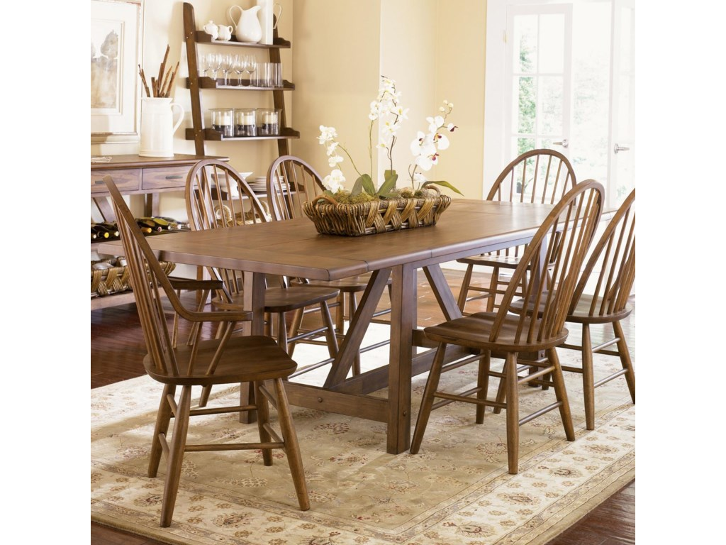 Shown with Arm Chair and Trestle Table
