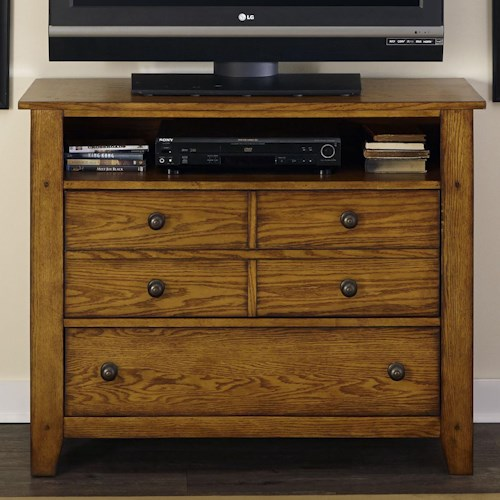 Liberty Furniture Grandpa's Cabin Media Chest with 2 Drawers