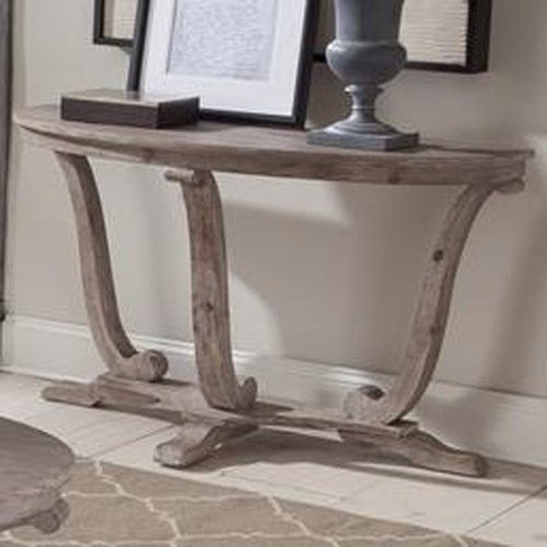 Liberty Furniture Greystone Mill Transitional Distressed Sofa Table